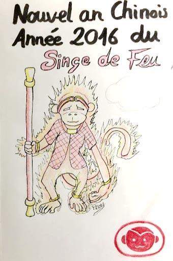 Roi des singes de l'élément feu